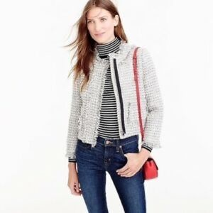 NWT J.Crew Metallic Tweed Lady Jacket